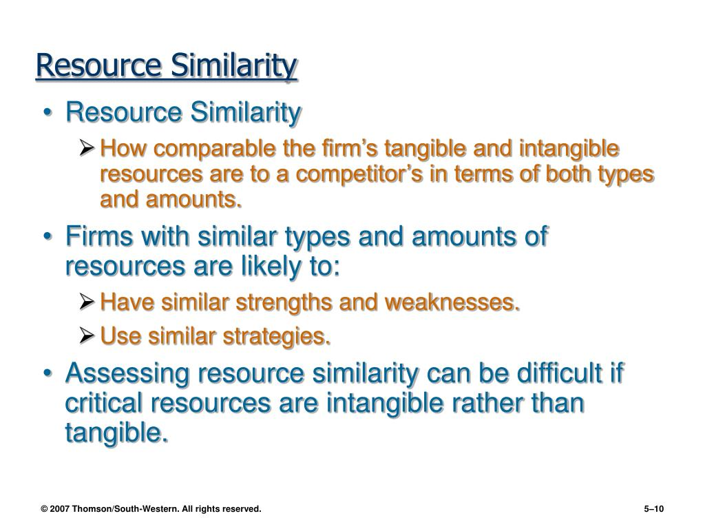 Resource Similarity