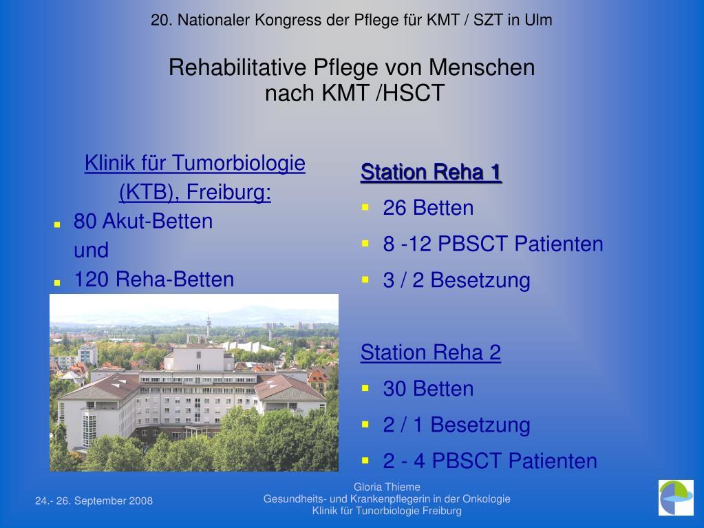 20. Nationaler Kongress der Pflege für KMT / SZT in Ulm