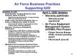 air force business practices supporting iuid