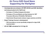 air force iuid good news supporting the warfighter