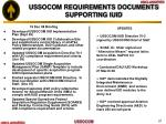 ussocom requirements documents supporting iuid