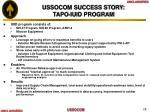ussocom success story tapo iuid program