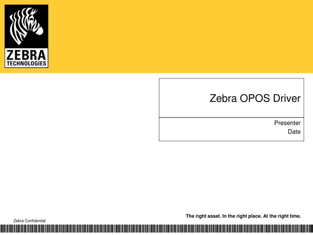zebra opos driver