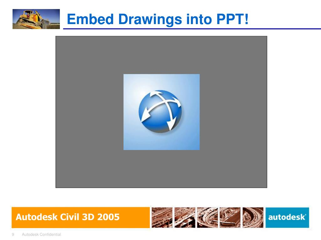 Embed Drawings into PPT!