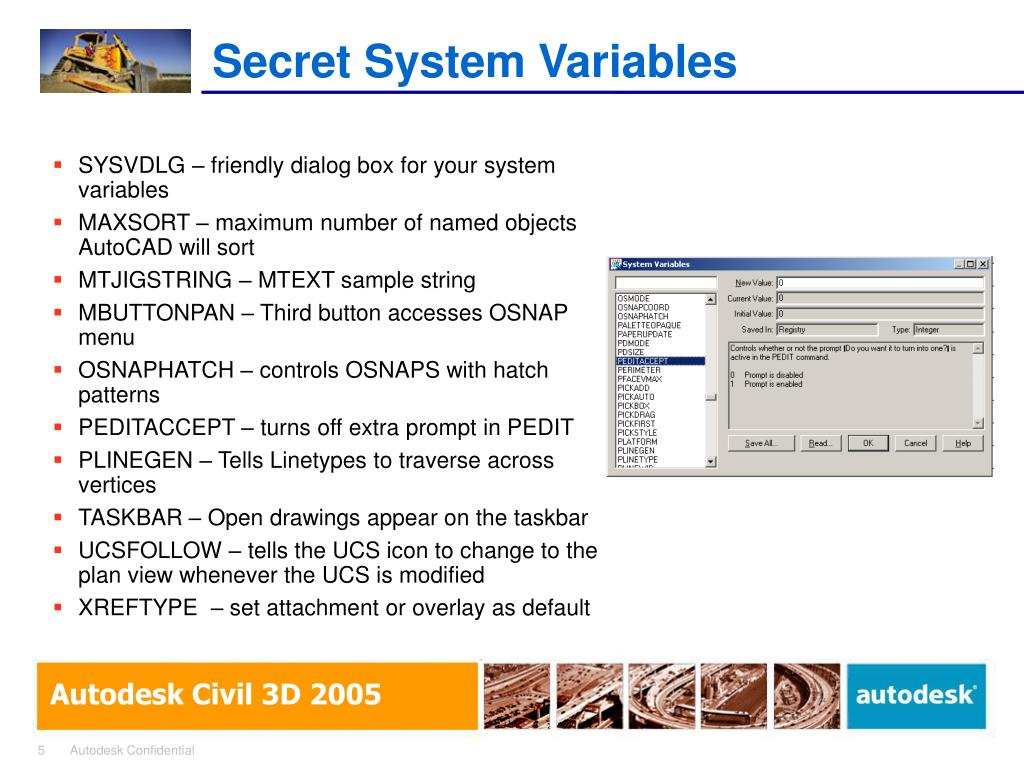 Secret System Variables