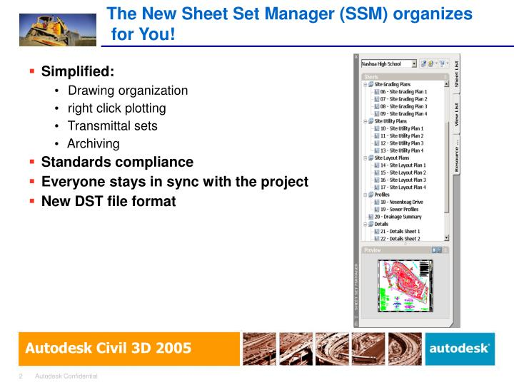 The new sheet set manager ssm organizes for you