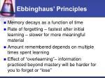ebbinghaus principles