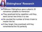 ebbinghaus research