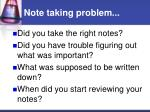 note taking problem