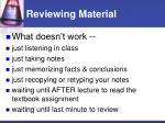 reviewing material
