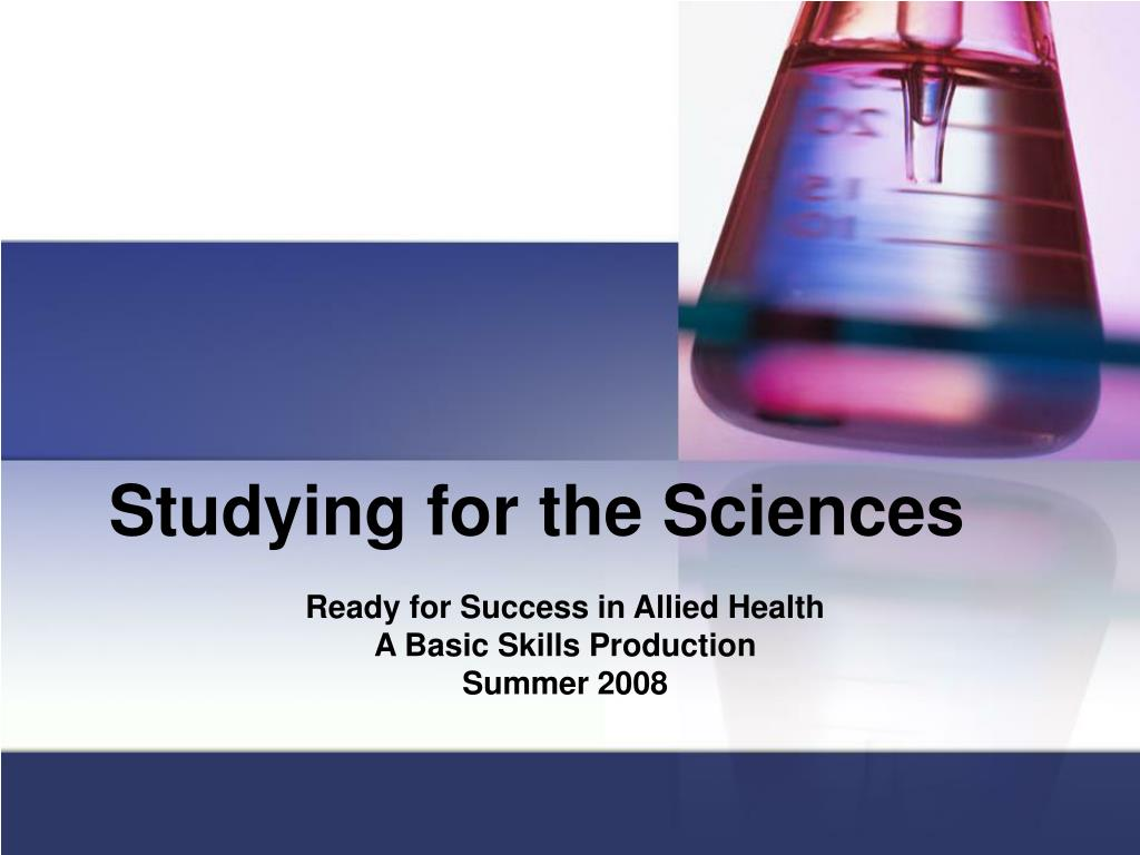 studying for the sciences