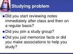 studying problem