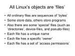 all linux s objects are files