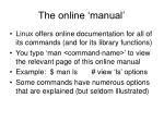 the online manual