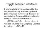 toggle between interfaces