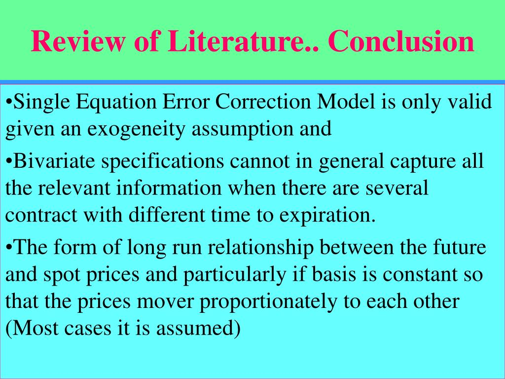 Review of Literature.. Conclusion