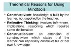 theoretical reasons for using mindtools