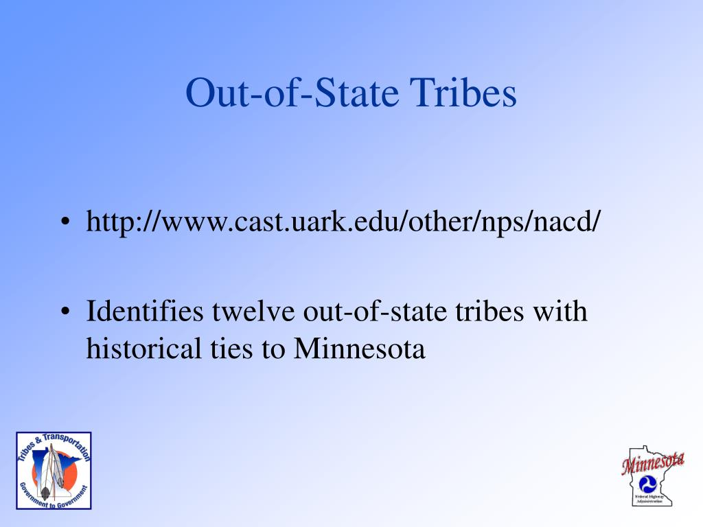 Out-of-State Tribes