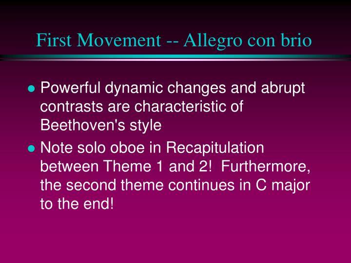 First Movement -- Allegro con brio