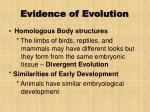 evidence of evolution33