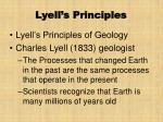 lyell s principles