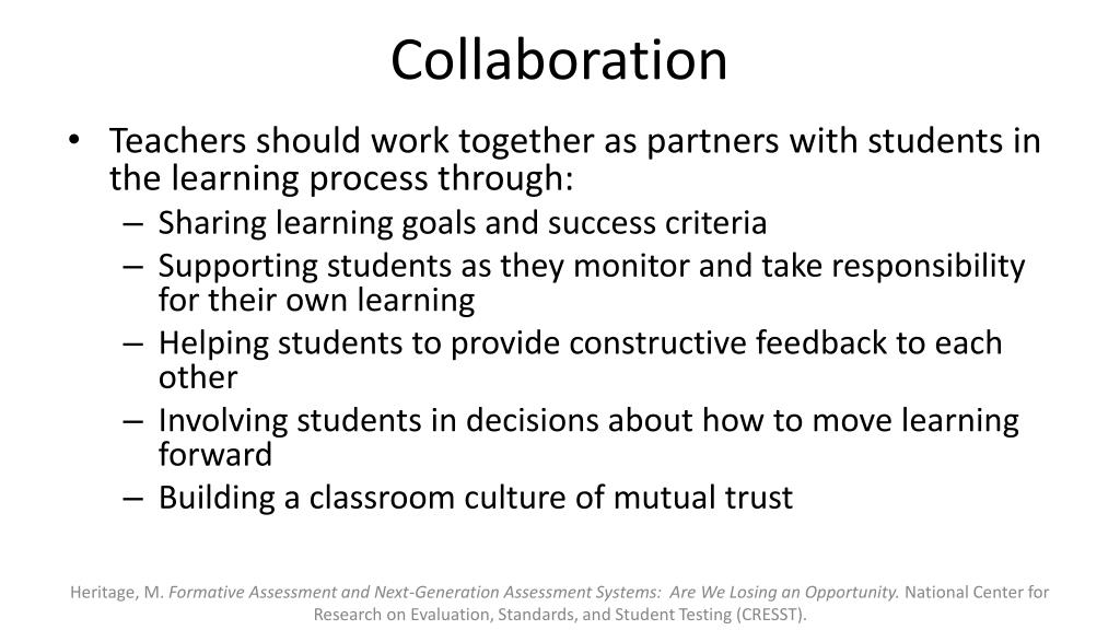 Collaborative Assessment In The Classroom ~ Ppt common core institute formative assessment