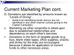 current marketing plan cont