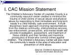 i cac mission statement