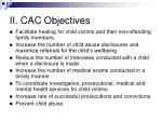 ii cac objectives