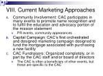viii current marketing approaches