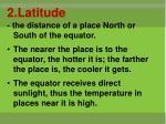 2 latitude