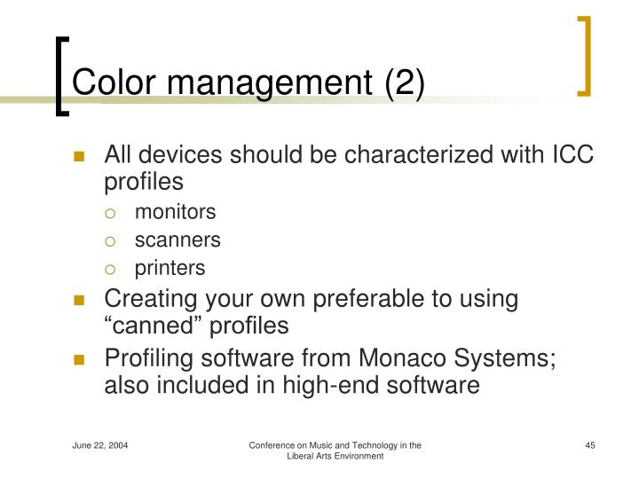 Color management (2)