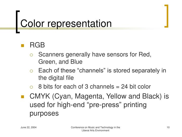 Color representation