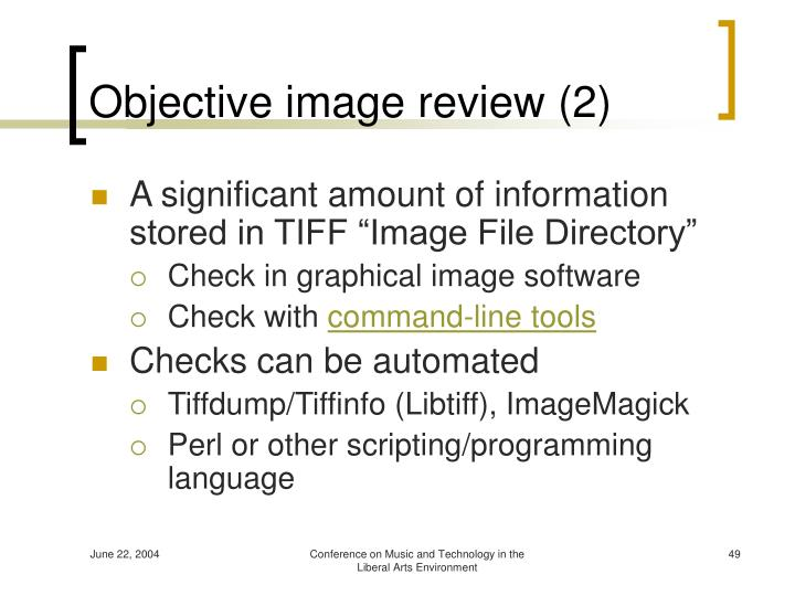Objective image review (2)