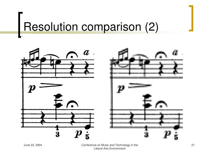 Resolution comparison (2)