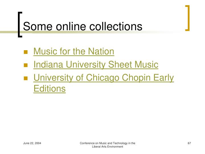 Some online collections