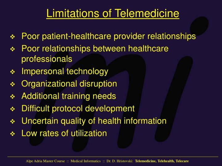 Limitations of Telemedicine
