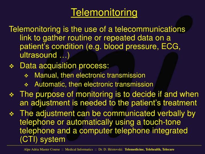 Telemonitoring