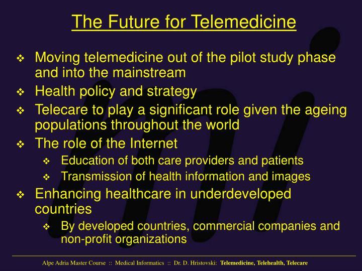 The Future for Telemedicine