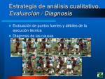 estrategia de an lisis cualitativo evaluaci n diagnosis