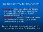 democracy vs totalitarianism