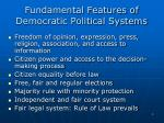 fundamental features of democratic political systems