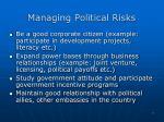 managing political risks