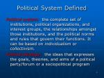 political system defined