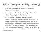 system configuration utility msconfig