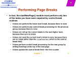 performing page breaks49