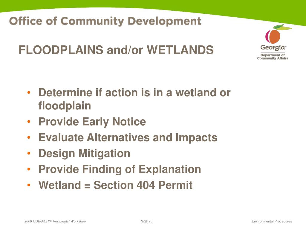 FLOODPLAINS and/or WETLANDS