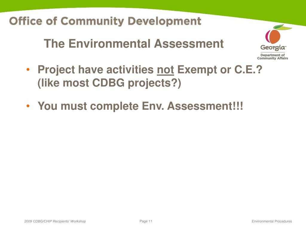The Environmental Assessment