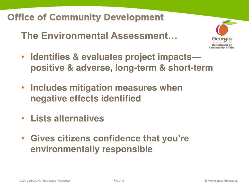 The Environmental Assessment…