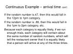 continuous example arrival time con t14